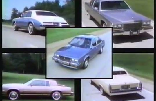 187 1982 Cadillac Full Line Rolling Footage Video