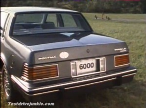 ... : 1982 Pontiac 6000; the captivating, exhilarating sedan for the 80s