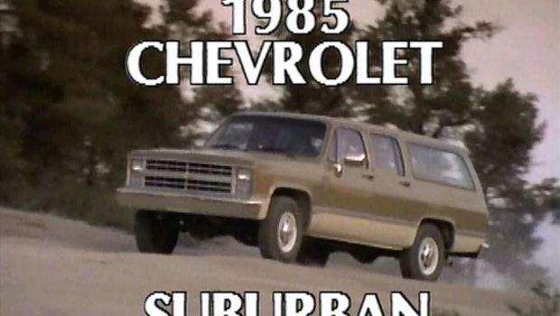 187 1985 Chevrolet Suburban Manufacturer Promo