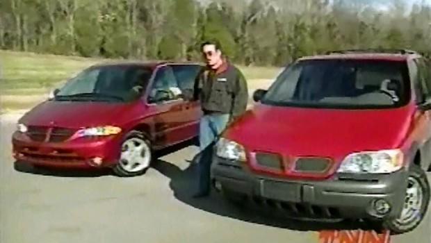 1999 dodge caravan vs pontiac montana comparison test test drive junkie