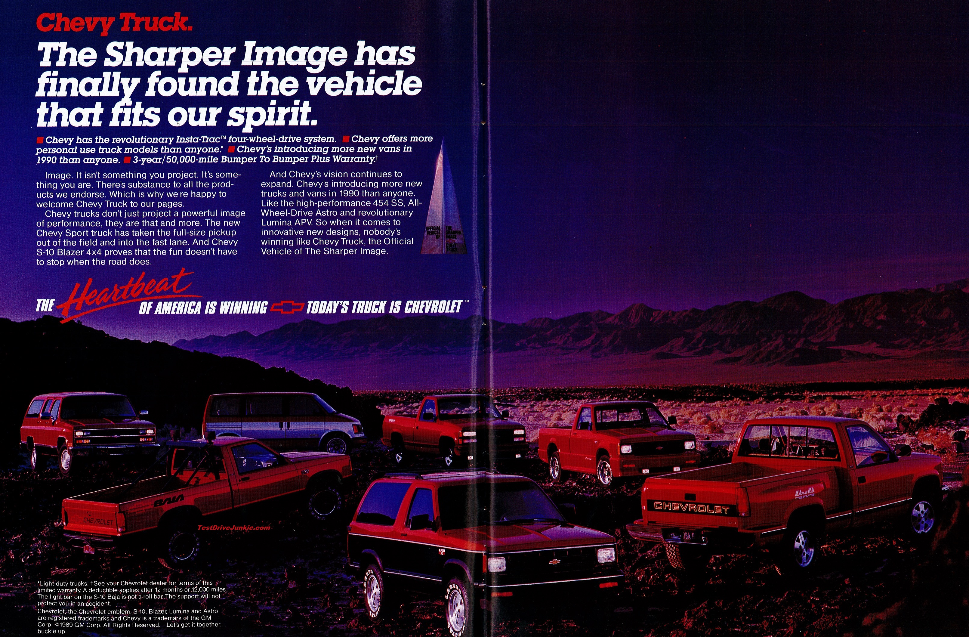 Fields Chrysler Jeep Dodge Ram >> » 1990 Chevrolet Truck Ad – The Sharper Image