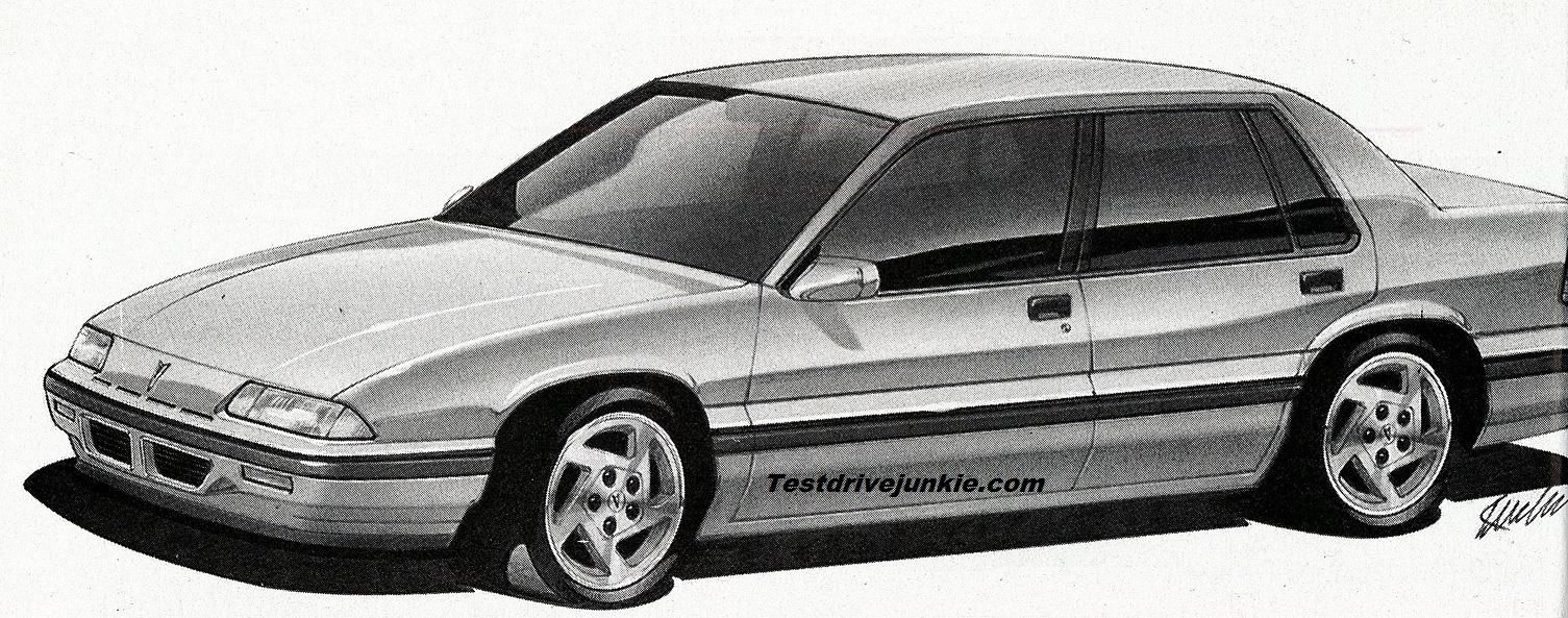 » 1988: Was Gen 2 Pontiac 6000 Going to be a 4-Door Only GM10?
